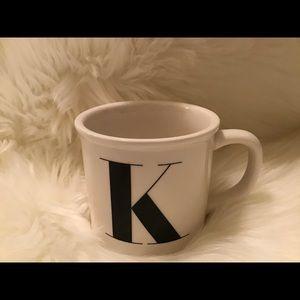 Pottery Barn Initial Mug | K | Like New
